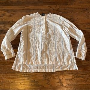 Theory Top Women Medium Henley Shirt